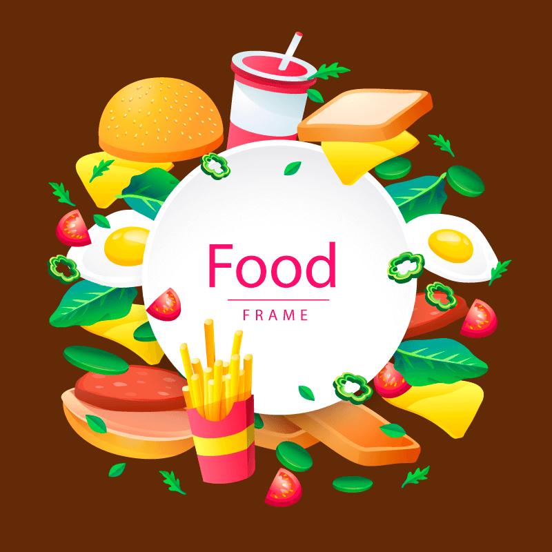 创意美味食物矢量素材(EPS/AI/免扣PNG)