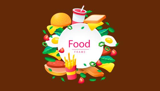 创意美味食物矢量素材(EPS/AI/PNG)
