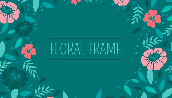 漂亮花卉背景矢量素材(EPS/AI/PNG)