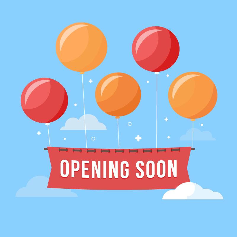彩色气球即将开业矢量素材(EPS/AI/免扣PNG)
