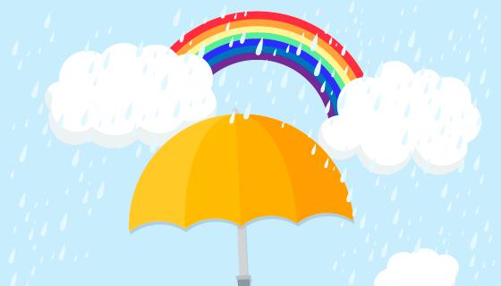 雨季背景矢量素材(EPS/AI/PNG)