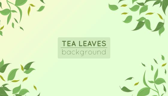 清新茶叶背景矢量素材(EPS/AI)