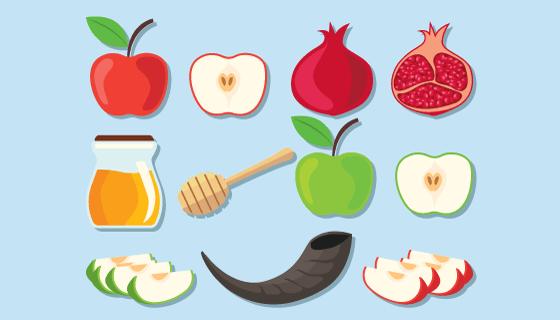 水果集合矢量素材(EPS/SVG/PNG)