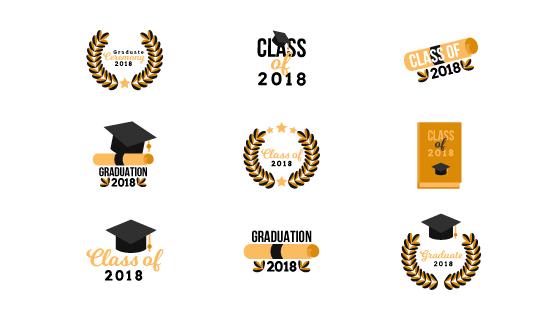 毕业徽章矢量素材(EPS/AI/PNG)