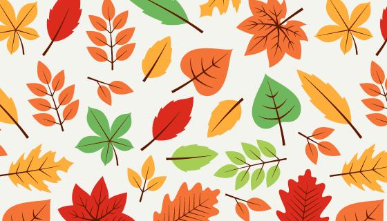 多彩叶子秋天图案矢量素材(EPS/AI)