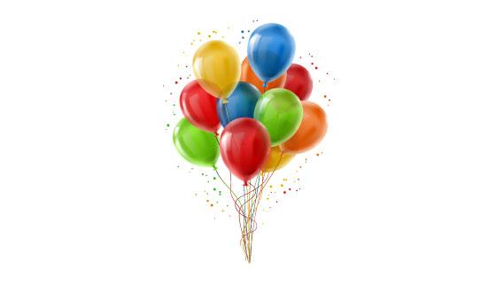 逼真多彩气球矢量素材(EPS/PNG)
