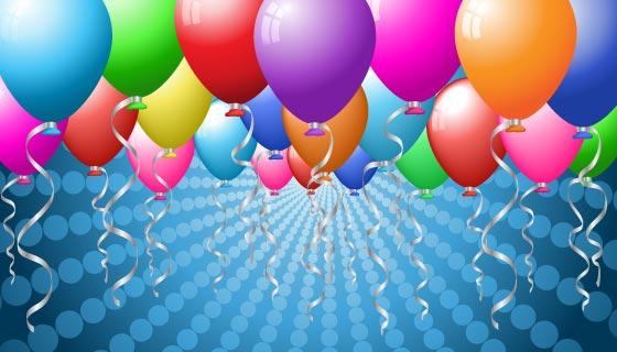 色彩鲜艳的气球背景矢量素材(EPS/PNG)
