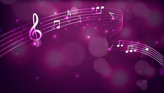 紫色音乐背景矢量素材(EPS/AI)