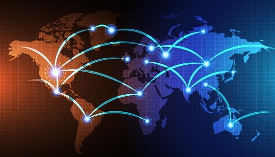 抽象科技数字世界矢量素材(EPS)