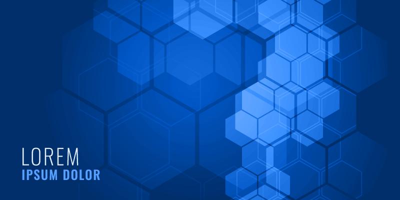 蓝色六边形背景矢量素材(EPS)