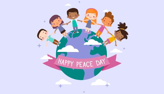 快乐和平日矢量素材(EPS/AI)