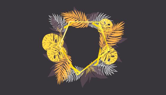 水彩花卉框架矢量素材(EPS/AI/PNG)
