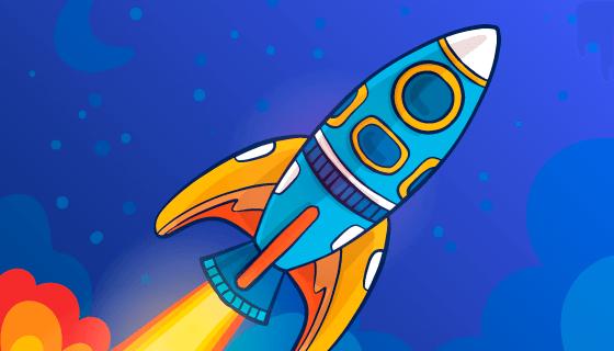 手绘火箭矢量素材(EPS/AI)