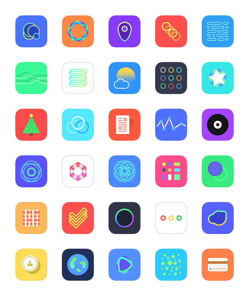 ios定位图标_30个iOS 8 App图标(PNG)_dowebok