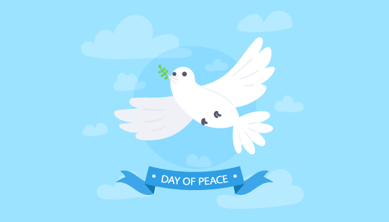 白鸽设计国际和平日矢量素材(EPS/AI)