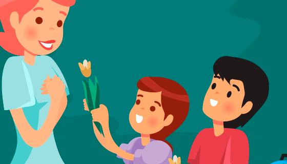 快乐教师节矢量素材(EPS/AI)