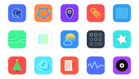 30个iOS 8 App图标(PNG)