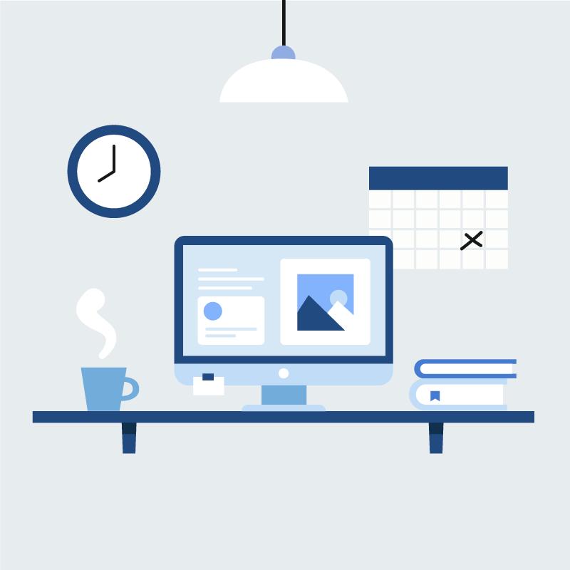 现代办公桌矢量素材(EPS/AI/免扣PNG)