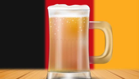 逼真的啤酒设计啤酒节矢量素材(EPS/AI)