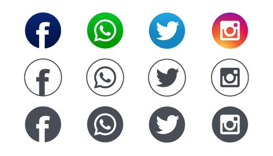 社会化媒体图标矢量素材(EPS)