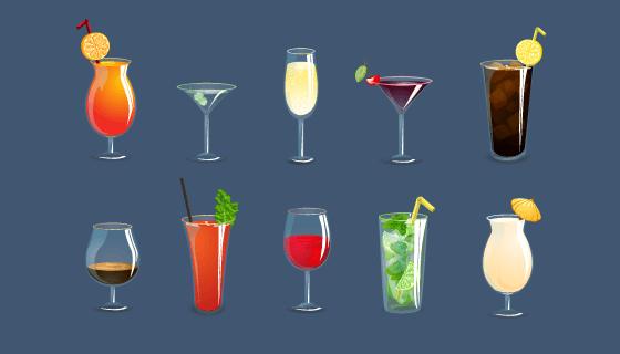 美味的饮料矢量素材(EPS/PNG)