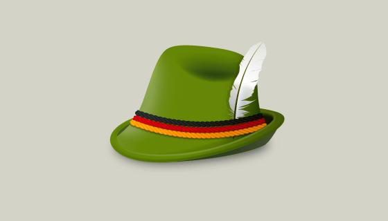 绿色蒂罗尔帽矢量素材(EPS/AI/PNG)