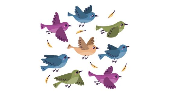 飞翔的鸟矢量素材(EPS/AI/PNG)