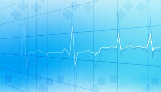 蓝色医疗背景矢量素材(EPS)
