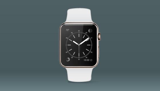 白色Apple Watch矢量素材(EPS)