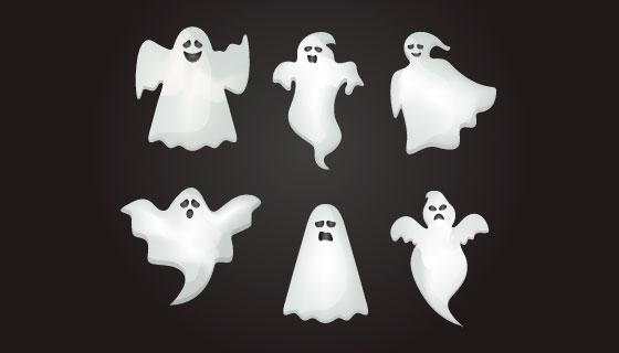 万圣节幽灵矢量素材(EPS/AI/PNG)