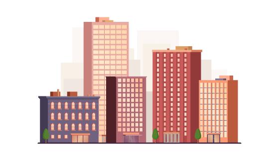 现代办公建筑矢量素材(EPS/AI)