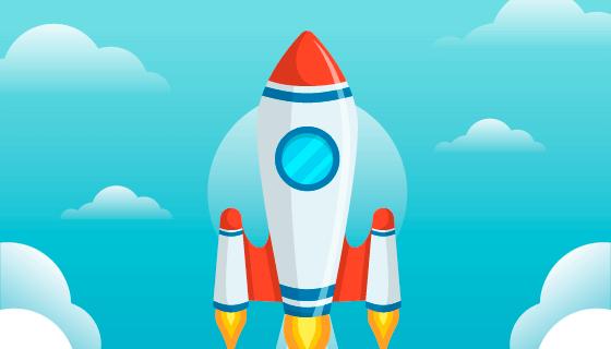 可爱的火箭矢量素材(EPS/AI)