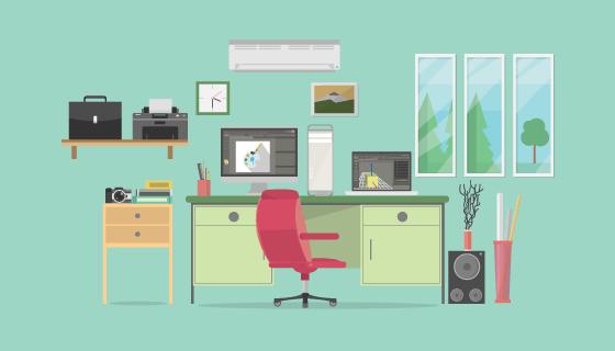 办公室设计矢量素材(EPS/PNG)