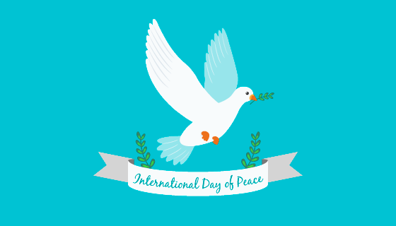 可爱白鸽和平日背景矢量素材(EPS/AI)