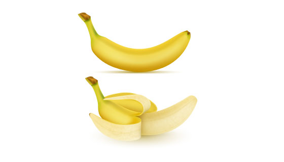 逼真的香蕉矢量素材(EPS)