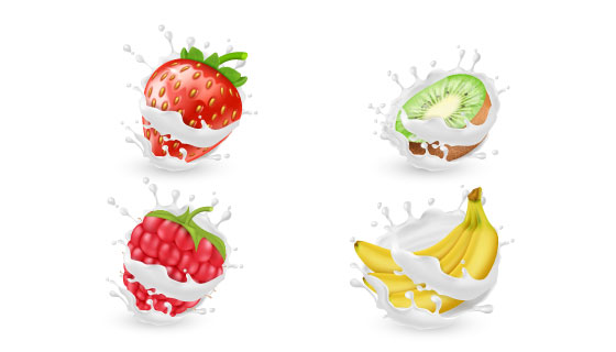 逼真的水果矢量素材(EPS/PNG)