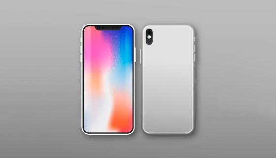 iPhone X矢量素材(EPS/AI/PNG)