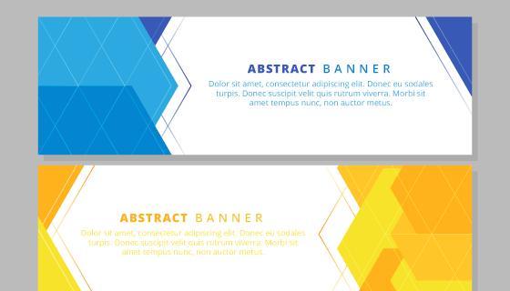 抽象形状的banner矢量素材(EPS/AI)