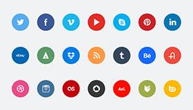 60个社交媒体图标(PSD)