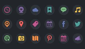 44个社交媒体图标(AI/EPS/PSD)