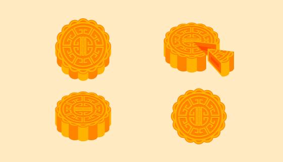 中秋节月饼矢量素材(EPS/AI)