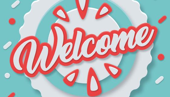 创意欢迎光临矢量素材(EPS/AI)
