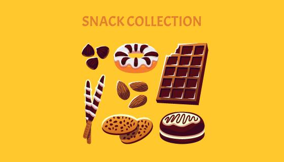美味的巧克力点心矢量素材(EPS/AI/PNG)