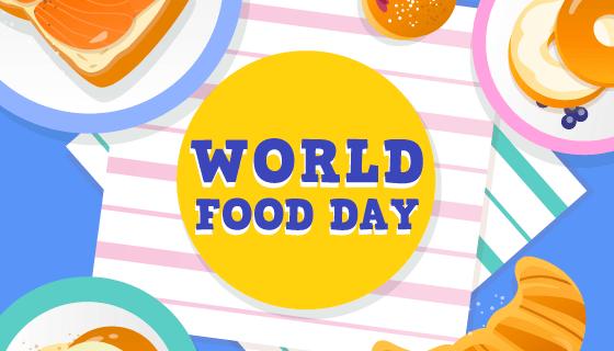 世界粮食日背景矢量素材(EPS/AI)