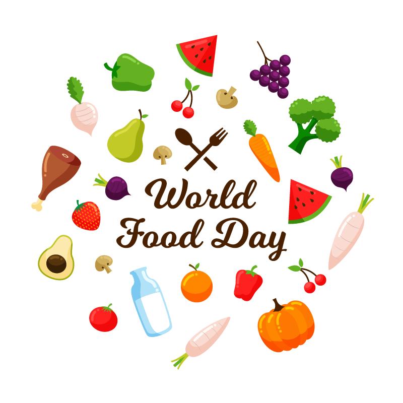 世界粮食日背景矢量素材(EPS/AI/免扣PNG)