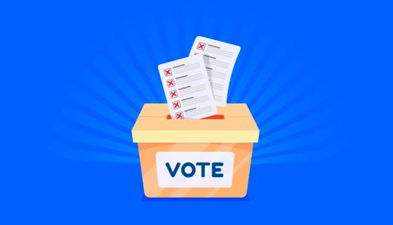扁平风格选举投票箱矢量素材(EPS/AI)