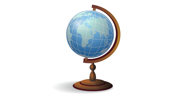 逼真的地球仪矢量素材(EPS)