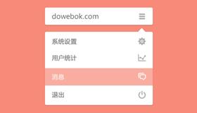 简洁的下拉菜单UI(PSD)