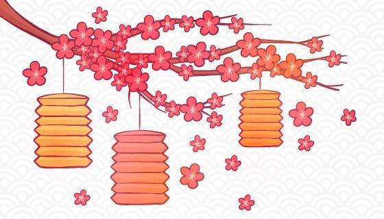 手绘创意中秋节背景矢量素材(EPS/AI)