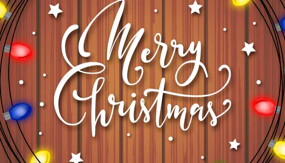 美丽的圣诞节背景矢量素材(EPS/AI)
